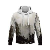 Men's Hoodies & Sweatshirts Natural Scenery 3D Print Hoodie Tree Long Sleeve Leaves Unisex Women Harajuku Streetwear Tops Kids Boys Clothing