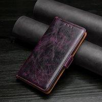Skórzana okładka Flip Case dla OPPO A5 A8 A9 A11 A11X A31 A32 A52 A53 2021 A72 A92 A92S Grafika kart Ręcznie RUB Uchwyt na telefon komórkowy