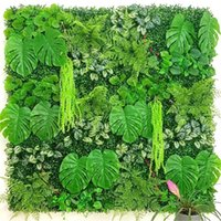 Party Decoration 60*40cm Artificial Green Plant Lawn DIY For Home Garden Wall Landscaping Plastic Door Shop Backdrop Image Grass