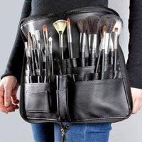 Sacos Cosméticos Artista Profissional Maquiagem Escova Cintura Saco Grande Capacidade PU Pacote Portátil Multi Bolsos Com Correia Correia