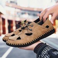 أولوم الصيف الرجال الصنادل ضوء تنفس أحذية الشاطئ الأصلي zapatos دي هومبر الكبار جودة عالية الرجال عارضة الأحذية الأحذية المسطحة إسفين A3JN #