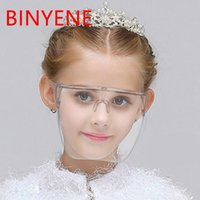 Shield Mask Face Oversized Kid Shades Anti-Spray Safety Sunglasses Baby Girl Protective Faceshield Glasses Transparent Goggles
