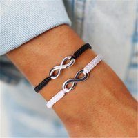 Link, Chain Mens Bracelets Infinity Sign Handmade Rope Braid 8 Shape Bracelet Bangle For Women Charm Adjustable Cuff Jewelry Friend Gift