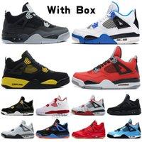 Jordan 4 AJ 4 jumpman 4 VENDRE Voile 4 4S Shoes Crement Cire Que Les Hommes Splatter Chat Noir Blanc Chaussures de Panier-Ball Travis Scotts Кактус Джек Gris Femmes