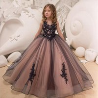 Girl's Dresses Flower Girl Lace Girls For Wedding First Communion Party Prom Princess Gown Pageant