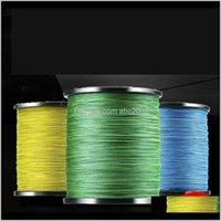 Treccia 8 fili intrecciati linea 1000m PE multicolor 0810 accessori per la pesca AQJ18 MUGT7
