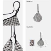 JMK2CWOMEN's Shopping Cuero genuino Metal Metal Pantalla Pantalla Pequeño hombro Tote con bolso de cruce de embrague Alta calidad