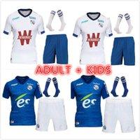 Adulto Kids Kit 20 21 Maillot RC Estrasburgo Alsácia Soccer Jersey 2021 Camisas de futebol Djiku Thomasson Mothiba Sissoko