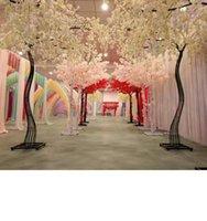 2021 2,6 м Высота белый искусственный вишневый цветущий дерево дороги ведущий симулятор вишни цветок с железной аркой рамка для свадьбы