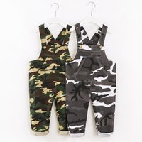 Jumpsuits V-TREE Autumn Baby Overalls Boy Jumpsuit Clothes Cotton Camouflage Trousers Outfits Pocket Children Clothing 2021