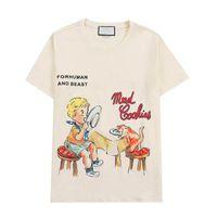 여름 남성 여성 T 셔츠 편지 인쇄 캐주얼 망 셔츠 최고 품질의 패션 티 스 스트리트웨어 의류 2 색