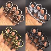 Métections de protection de protection Minuckles Quatre doigts Skull First Secides Escape Escape Dusters Fournitures de voiture pour adultes 5 8kgd Q2