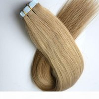 100g 40pcs 50pcs Colle Skin Tape Tape dans des extensions de cheveux Brésiliens Cheveux humains indiens 18 20 22 24 pouces # 22 Couleur