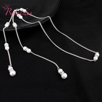 Pendant Necklaces Women Party Wedding Backless Necklace Dress Accessories Simulated Pearl Backdrop Back Chain Jewelry RE3453