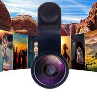Più nuovo universale 3 in 1 grandangolare Macro Pesce Eye Fotocamera Telecamera Telefono per cellulare Quantità Microscopio per smartphone