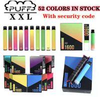 Puff XXL 52 Colori Sigaretta 1600 Blows Pods Pods Pods Pods Cartridge VAPE Monouso VAPES BARS FLOW