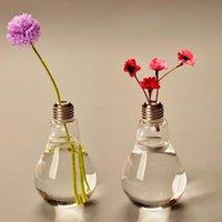 Vazolar Ampul Cam Vazo Teraryum Sevimli Saksılar Masaüstü Modern Vaso Düğün Zemin Hava Ekici Dekoratif