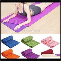 Paspaslar kaymaz Yoga Mat Havlu Battaniye Spor Seyahat Spor Pilates Egzersiz Kapak JHGBD D4UN5