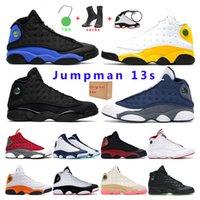air retro jordan 13s Oyun alanı Bred Yeni erkek basketbol ayakkabıları 13s Kırmızı Flint Hiper Kraliyet Balck kedi spor spor ayakkabı eğitmenler Atletik boyutu 7-13 mens