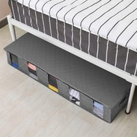 صندوق تخزين تحت السرير للطي الملابس المنظم مقاوم للرطوبة منظم القطن الكتان واقية الغبار لحاف أكياس مع غطاء الانتهاء GWD6541
