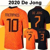 2020 فان dijk دي Ligt رجل لكرة القدم جنة هولندا فريق National Team de Jong Memphis Promes StroTemban الصفحة الرئيسية قميص كرة القدم