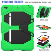 For iPad 10.2 Case Heavy Duty PC Silicone Rugged Armor Kids Shockproof Kickstand Case iPad 7th 8th Generation 2020 2019