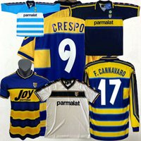 Retro Classic 1998 1999 2000 2001 2002 2003 Parma Futebol Jerseys F.Cannavaro Crespo Nakata Camisa de futebol