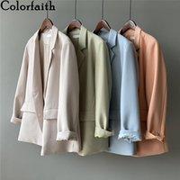 Women's Suits & Blazers Colorfaith 2021 Spring Autumn Jackets Fashionable Vintage Oversize Elegant Wild Office Lady Tops JK7973AB