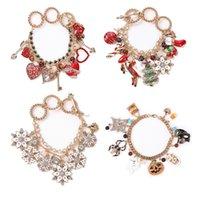 S2525 Fashion Jewelry Cartoon Animals Heart Snowflake Charms Bracelet Halloween Christmas Glaze Pendant Bracelets