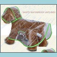 Supplies Home & Gardendog Raincoat Fl Erage Clear Rainproof Dog Coats Apparel Clothes Water Ressistant Jacket Rain Suit Fleece With Hoodie P