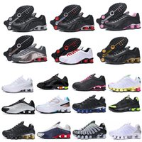 2021 shox tl oz رجل r4 الاحذية الرياضية الثلاثي الأسود الأبيض المعدنية الفضة سرعة المدرب الرجال النساء المدربين أحذية رياضية chaussures حجم 40-45