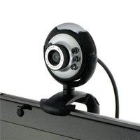 Für Skype Messenger Computer Desktop 6 LED HD Auf Lager Webcam USB 2.0 High Definition Camera Web Cam 360 Grad mit MIC Webcams