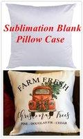 Caja de almohada en blanco de sublimación blanca lisa Cojín de almohada de cojín de moda Cubierta para la impresión de prensa de calor Cubiertas de almohadas de tiro decorativo