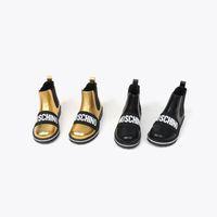 Tasarımcı Kız Boot Kar Elbise Kış Sıcak Bebek Ayakkabıları Hakiki Deri Vampir Çocuk Siyah Marin Çizmeler Ayakkabı AB 26-35 Gönderme Kutusu