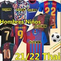 Barcelona Ansu Fati Bar Jerseys 2020 21 Camiseta de Futbol Maradona Messi Grisezmann de Jong Coutiniho Homens Kit Kit Camisa de Futebol