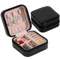 Schmuck Organizer Display Travel Packaging Case Boxen Tragbare Box Reißverschluss Leder Lagerung