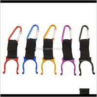 Outdoor Gadgets And Sports & Outdoorswholesale-5Pcs Aluminum Carabiner Water Bottle Buckle Hook Holder Clip For Camping Hiking Traveling Key