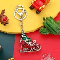 Diamond Santa Claus Series Gift Painting Oil Inlaid Key Chain Pendant Crutch Lovely Pendant Trinket