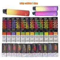 Puff Bar XXL 1600 Одноразовый Revape Pen E Cigarette 1000MAH Батарея Парабизатор Pods Устройство 6.5 мл Емкость
