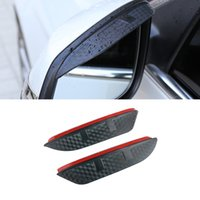 For Mercedes-Benz Smart 2009-2021 Car Stickers Side Rearview Mirror Rain Eyebrow Visor ABS Carbon Fiber SunShade Guard Auto Accessories
