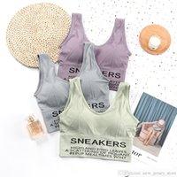 Sous-vêtements Femmes Sexy Lettre Sport Soutien-gorge Pour Fitness Sportswear Sportswear Beauty Back Grand Taille Yoga Haut Courant Jogging Femmes Bra