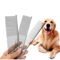 100pcs lot High Quality Pet Comb Professional Steel Grooming Comb Cleaning Hair Brush Pet Dog Cat Accessories