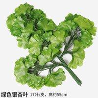 12 stks kunstmatige blad decoratie nep bladeren plastic boom takken simulatie banyan bladeren voor thuis bruiloft decor bladeren 2189 v2