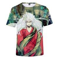 Erkek T-Shirt 2021 Inuyasha Animasyon Periferik Renk Baskı Yetişkin Kısa Kollu T Yaz ve WO 3D T-Shirt