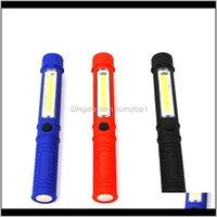 Fenerler ve Kamp Yürüyüş Sporları Açık Havada Damla Teslimat 2021 Açık LED Aydınlatma Lanterna Çalışma Bakım Lambası Kalem Şekli Taşınabilir Flas