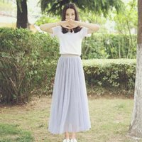 dresses Half length skirt women's spring and summer gauze mid slim big swing poncho Bridesmaid Fairy