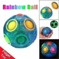 Luminous Stress Reliever Magia Bola de Arco-íris Divertido Puzzle Educação Brinquedo Para Crianças Adultos Fidget Toy Cy03