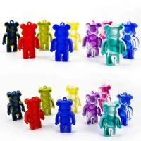 Галстук-краситель Pown Poppers Силиконовые головоломки медведь красочные POO Tiktok игрушки Go Bang Hidget игрушка сенсорные Squishies ключевые цепи H4142XW