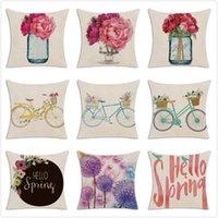 Cushion Decorative Pillow Hello Spring Cushion Cover Throw Case Nordic Decorative Home Car Sofa Pillowcase 45*45cm Housse De Coussin