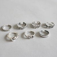 Cluster Rings 1pc Size2 -size4.75 Small Size Authentic S925 Sterling Silver FINE Jewelry Midi Toe Ring Adjust TLJ594